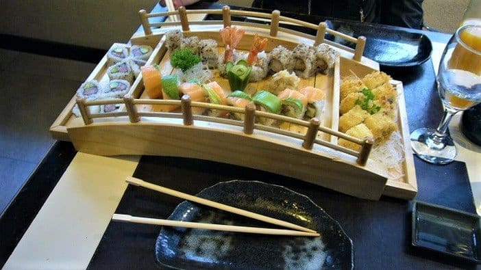 Bridge of Sushi Rolls at Irifune
