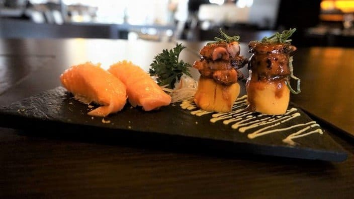 Nigiri and Causa Appetizers at Osaka