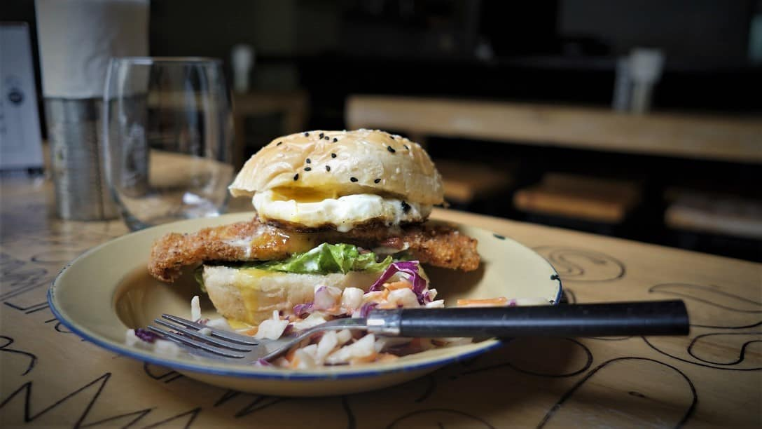 Cesár Augosto (Crispy Chicken) Sandwich @ Abocado