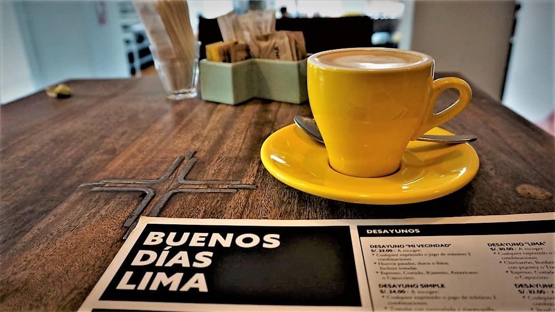 Buenos Dias Lima! at Cafe de Lima