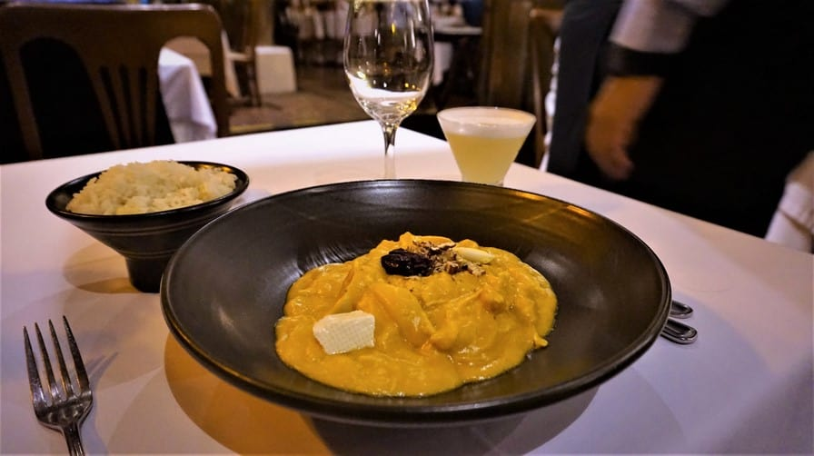 Aji de Gallina at Huaca Pucllana