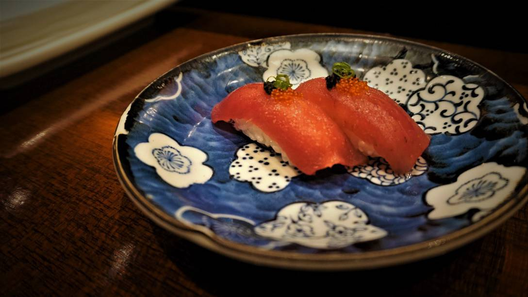 Bluefin Tuna Nigiri and Caviar at Hanzo