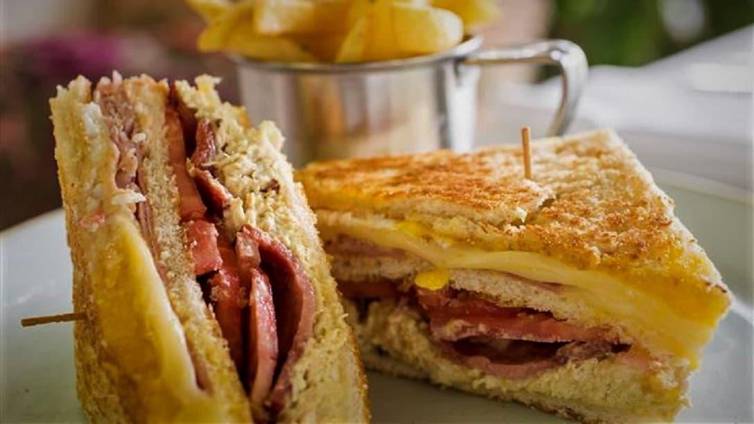 Club Sandwich at Museo Larco Restaurant