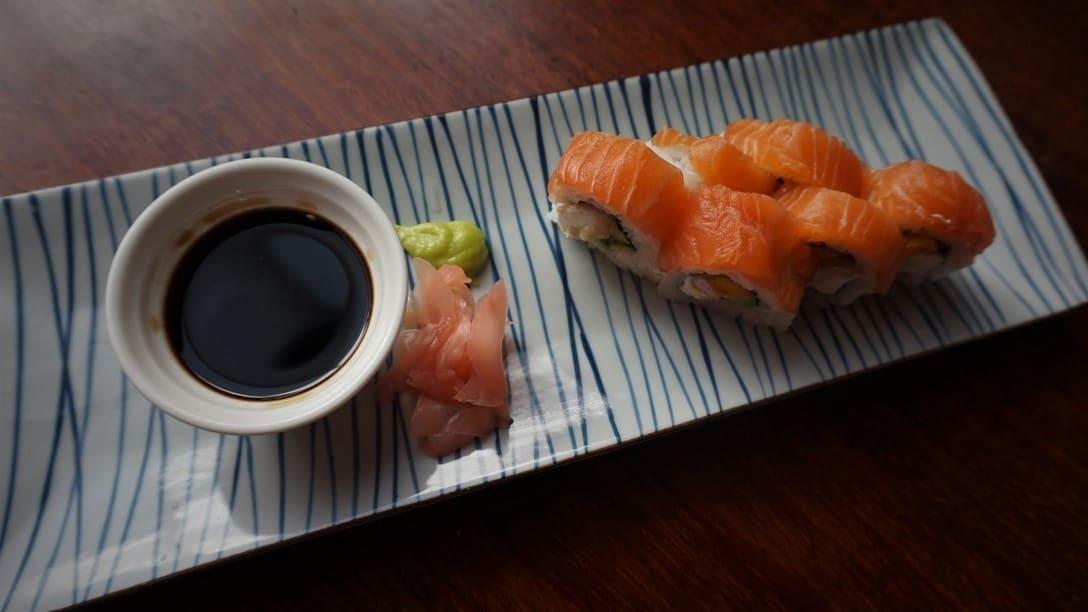 Rolls de Sushi en El Mercado