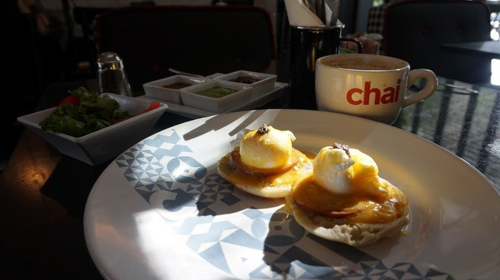 Eggs Benedict at Chai