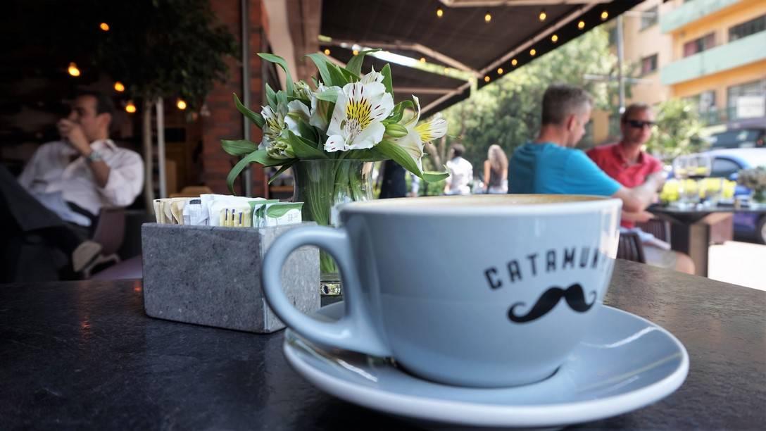 Catamundi Cappuccino with a Mustache