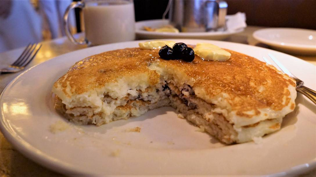 Blueberry Pancakes at Cheesecake Factory