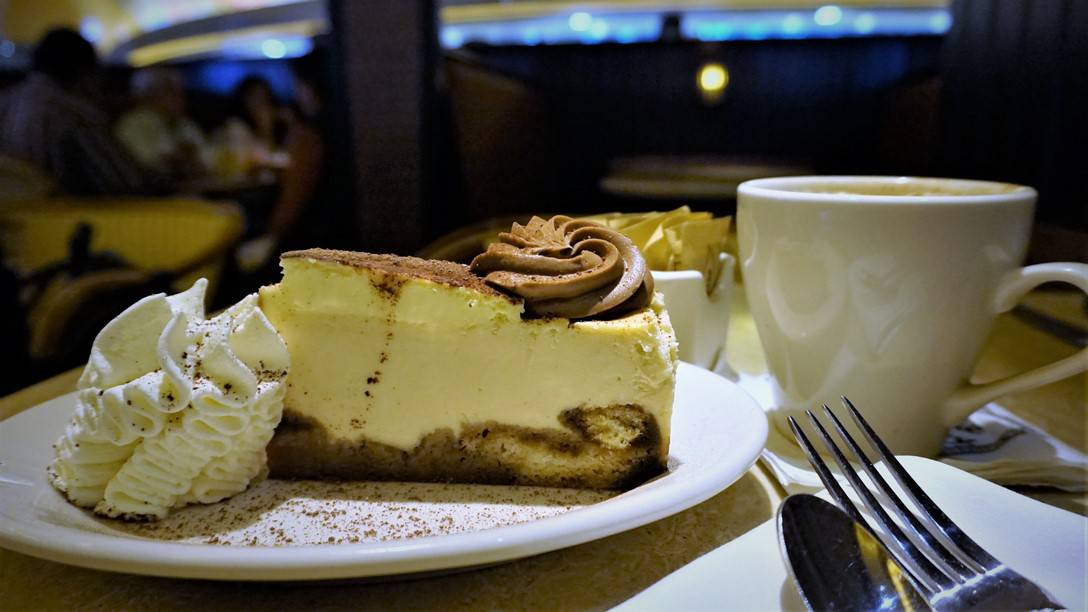 Something sweet with Coffee at the Cheesecake Factory
