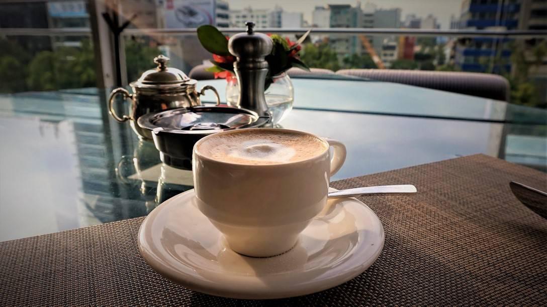 Breakfast at Diana - St Regis on the terrace