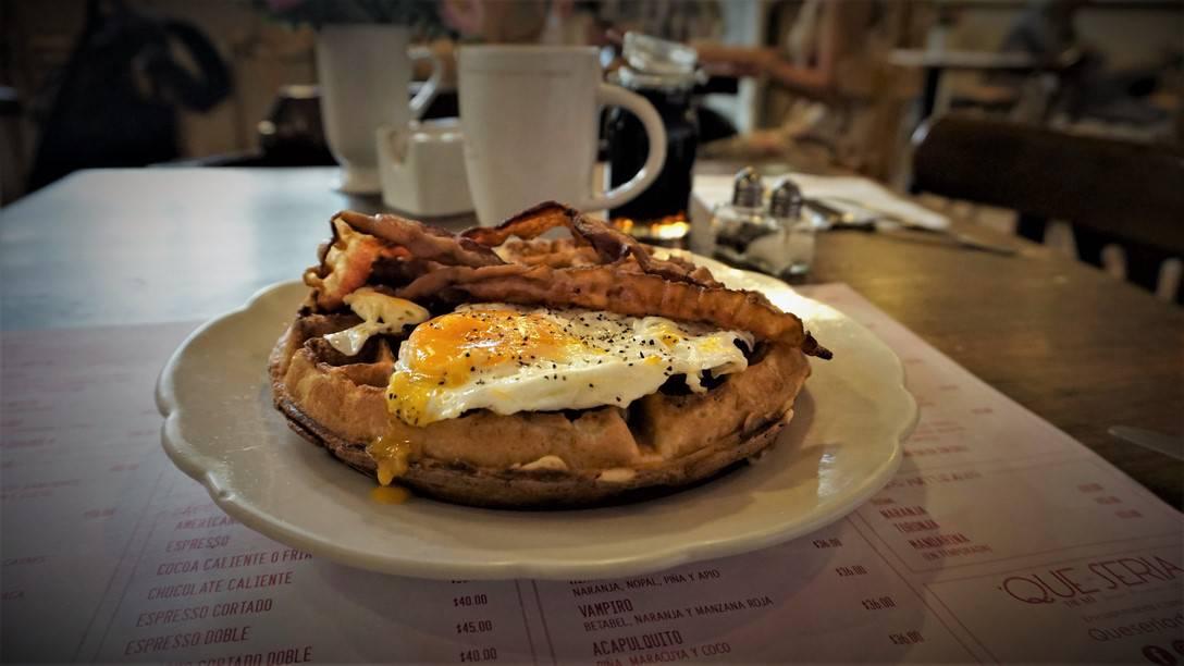 American Waffle at Que Sería de Mi