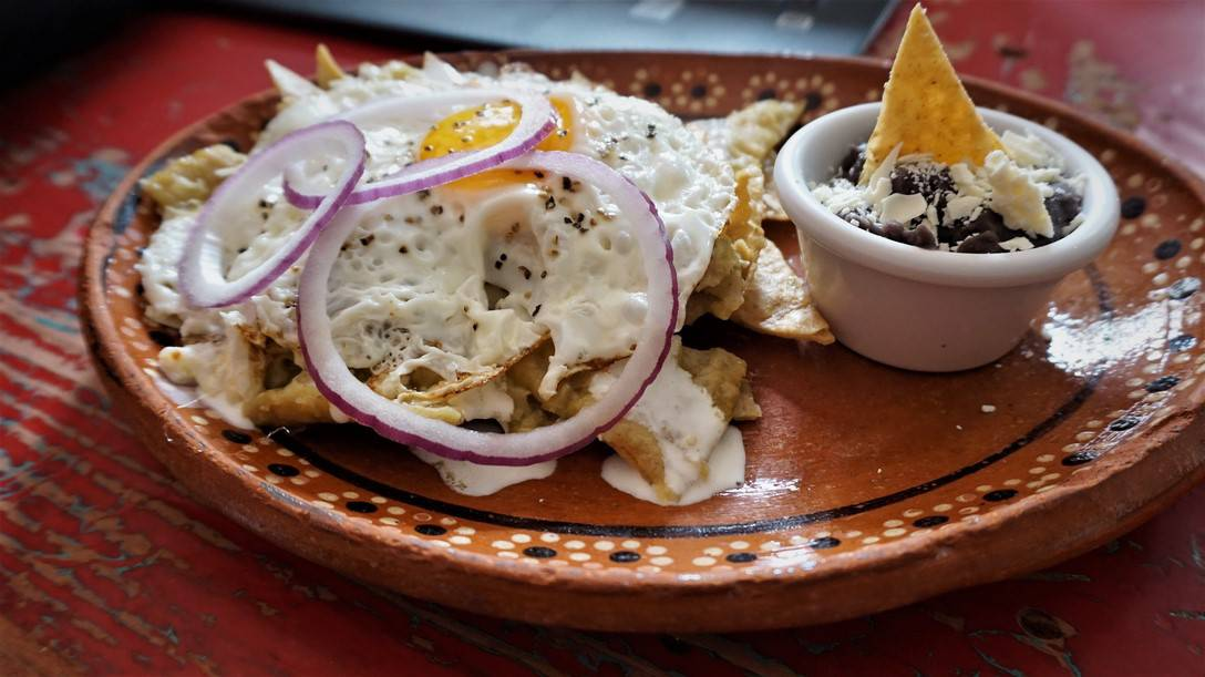 Yume Chilaquiles up Close
