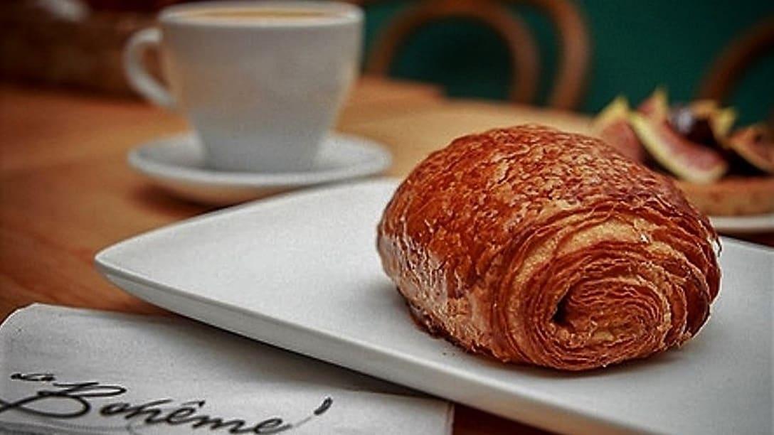 A flaky French Pastry at La Boheme
