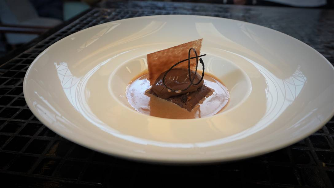 Chocolate Tamal bathing in Champurrado at Sud 777