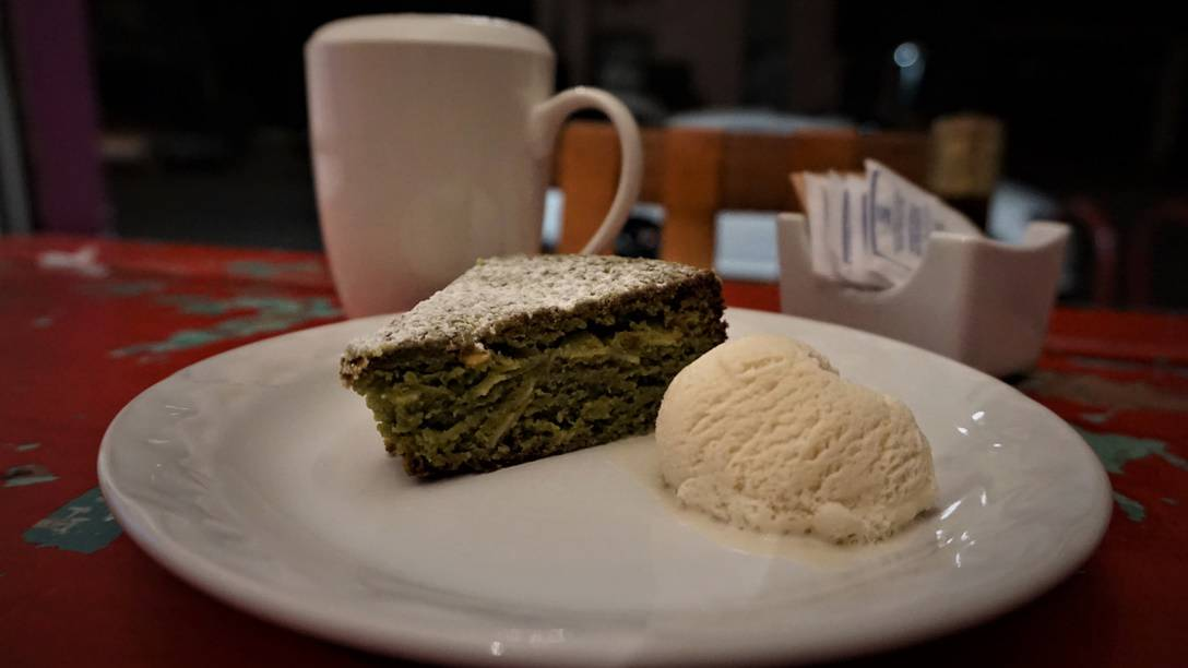 Green Tea Cake at Yume