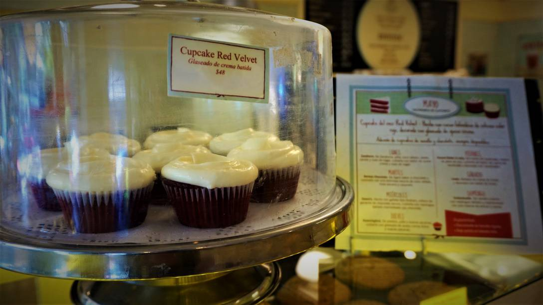 Red Velvet Cupcakes at Magnolia Bakery