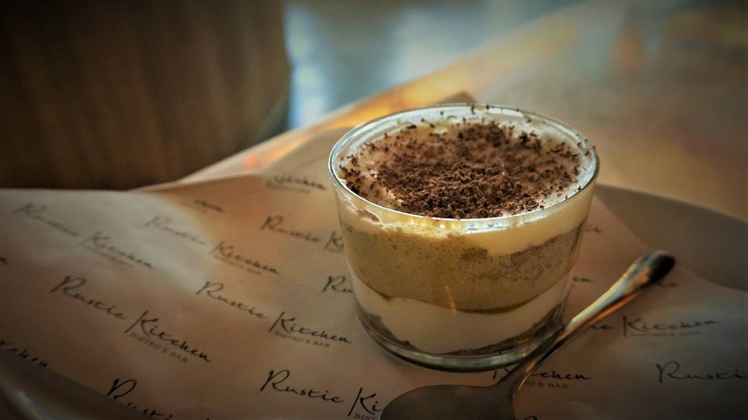 Tiramisu at Rustic Kitchen