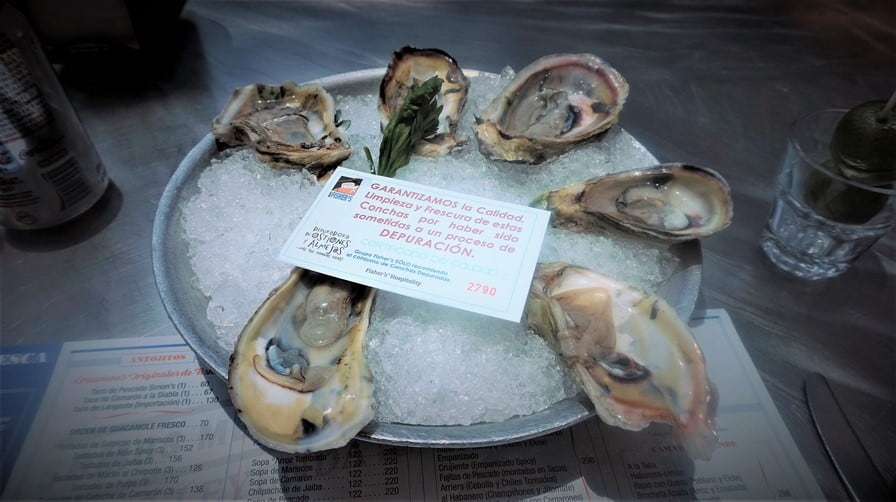 Oysters on the Half Shell at Fisher's