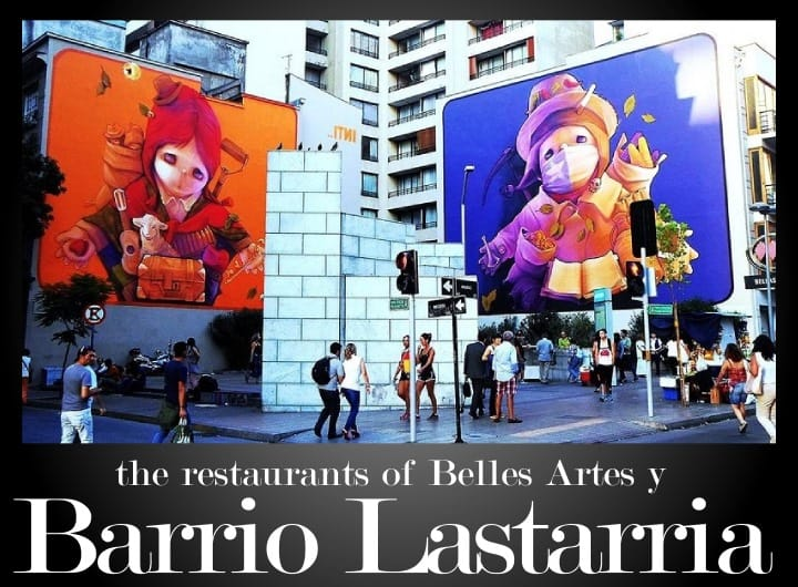 The best restaurants in Barrio Lastarria and Belles Artes