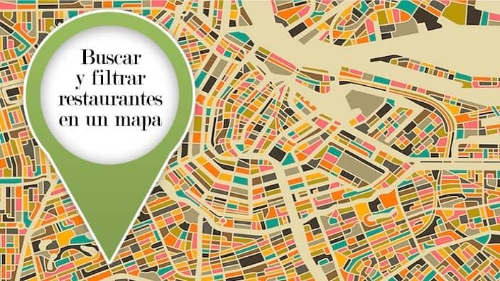 Buscar y filtrar restaurantes por características en un mapa