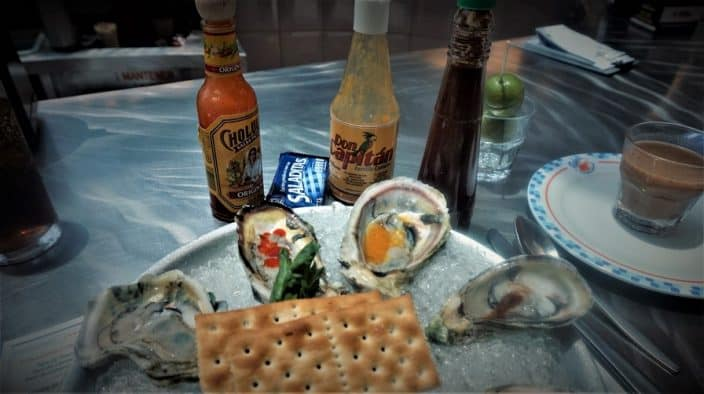 Oysters and the Sauces at Fisher's